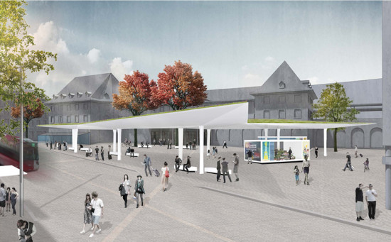 Fribourg station square (place de la gare Fribourg) – Redesign proposal